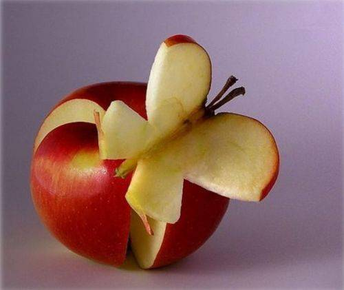 Food art apple