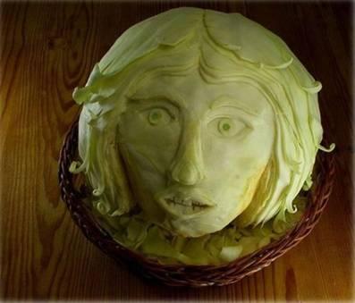 Food art cabbage