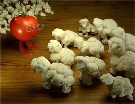 Food art brocolli